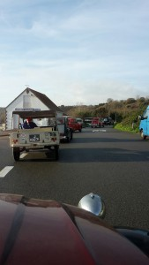2cv convoy leaving St Catherine
