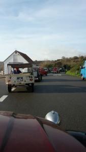 2cv convoy leaving St Catherine