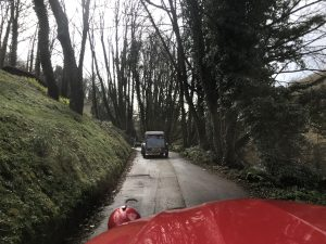 Jersey driving from a 2cv