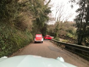 2cv cars going down the hill
